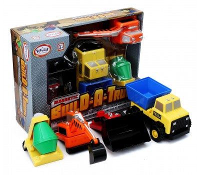 Image of Magnetic Build a Truck Construction Set