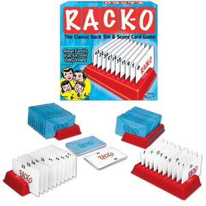 Image of RACK-O playing cards, card holders and packaging
