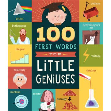 Image of 100 First Words for Little Geniuses book cover artwork