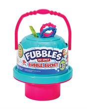 Image of pink and blue Fubbles No-Spill Bubble Bucket