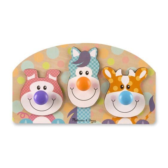 Image of First Play Wooden Jumbo Knob Farm Animal Puzzle