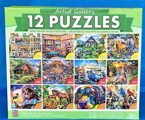 Image of Artist Gallery 12 Puzzle collection packaging