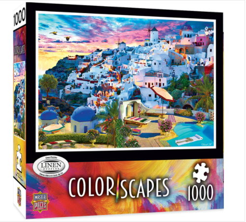 Image of 1000 PC Santorini Sky