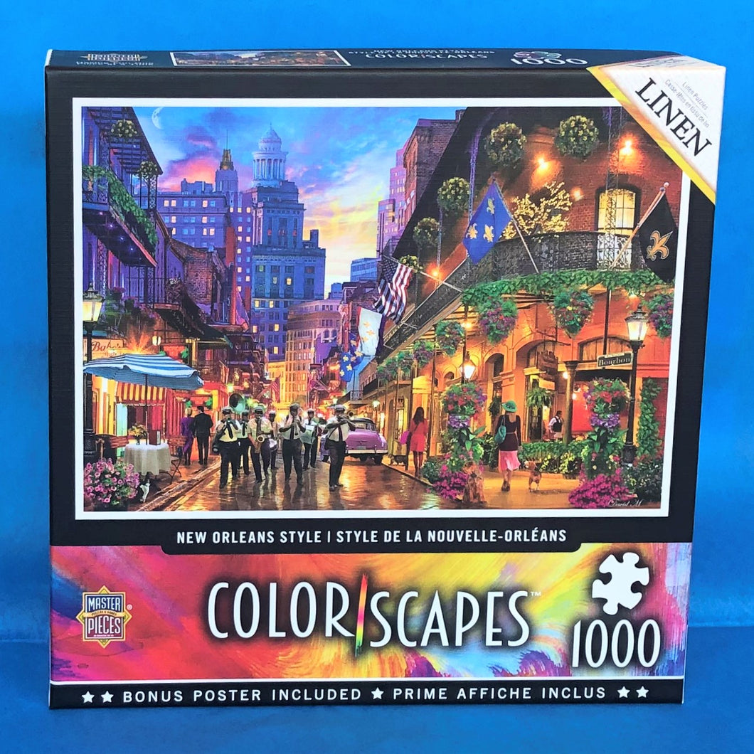 Image of New Orleans Style 1000 piece puzzle packaging