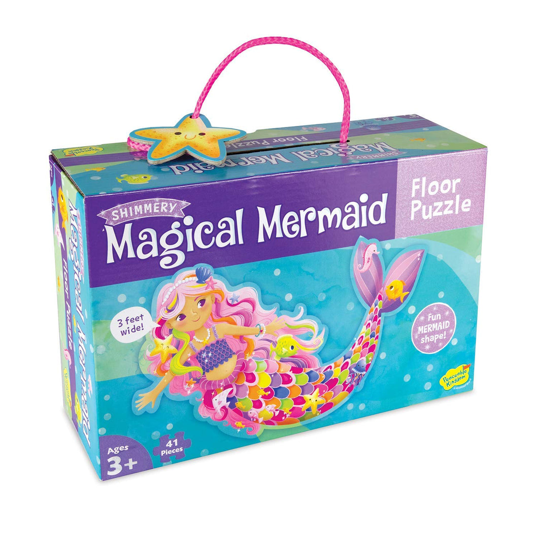 Image of Magical Mermaid Floor Puzzle by Peaceable Kingdom