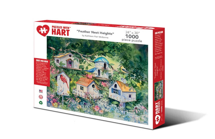 Image of 1000 Piece Feather Nest Heights Puzzle