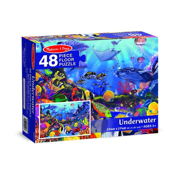 Image of underwater floor puzzle packaging