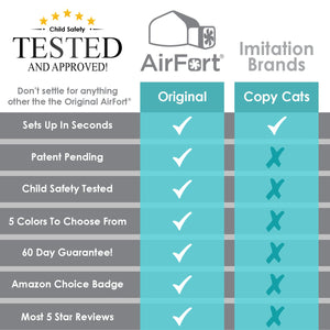 Image of AirFort comparison chart