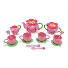Image of 15 pieces included in Butterfly Tea Set by Melissa & Doug