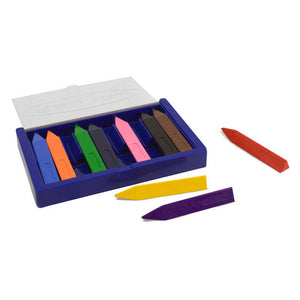 Image of 10 Jumbo Triangular Crayons displayed with storage case open