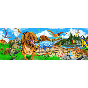 Image of completed Land of Dinosaurs floor puzzle
