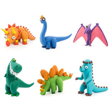Image of completed Hey Clay Dino figures