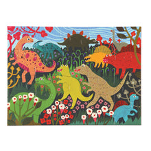 Image of completed Dinosaur Meadow puzzle by eeBoo