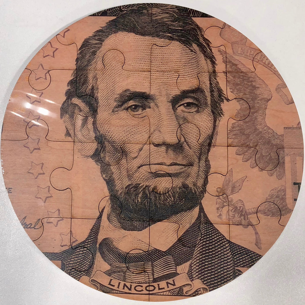 Quality maple Lincoln puzzle - Little Lincoln's Toy Shop - Springfield, Illinois