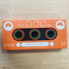 Image of Orange and Green FinGears size Medium in packaging