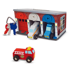 Image of Keys & Cars Rescue Garage displayed with vehicles and keys