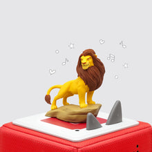 Image of Simba Lion King Tonie figure sitting on Toniebox (sold separately)