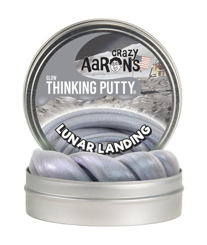 Image of Silver Lunar Landing Thinking Putty in metal tin