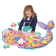 Image of child playing with Magical Mermaid Floor Puzzle by Peaceable Kingdom