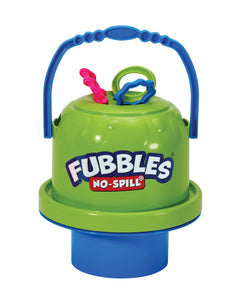 Image of Fubbles No-Spill Bubble Bucket in green and blue color
