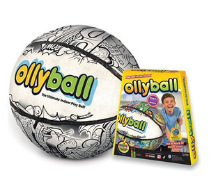 Image of Ollyball inflated and packaging