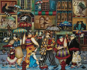 "Image of ""Raining Cats and Dogs in Paris"" artwork"