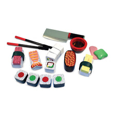Image of Wooden Sushi Slicing playset components