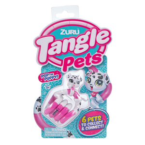 Image of Tangle Pets puppy inside packaging