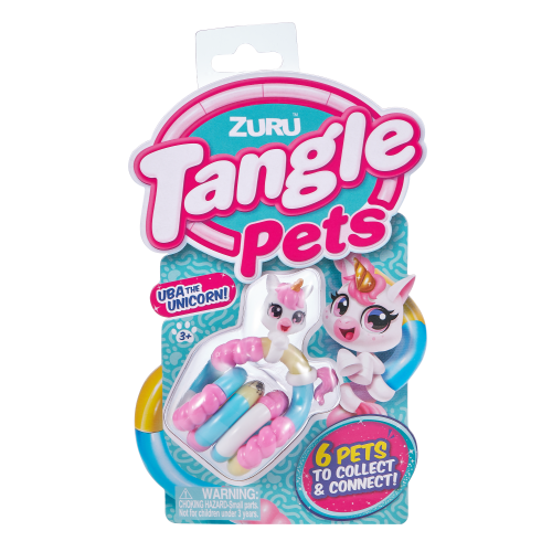 Image of Tangle pets unicorn inside packaging