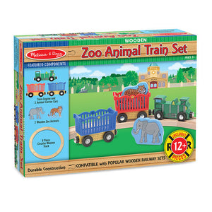 Image of Melissa & Doug Zoo Animal Train Set packaging