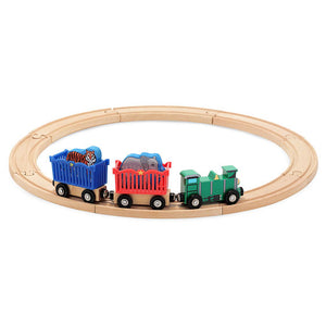 Image of Zoo Animal Train Set by Melissa & Doug with circular track