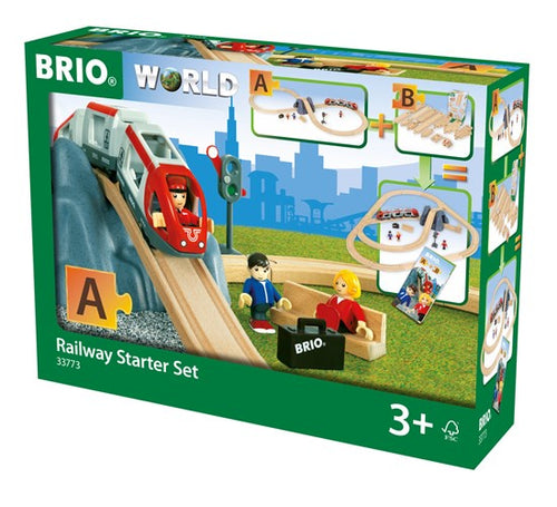 Image of Railway Starter Set packaging from BRIO