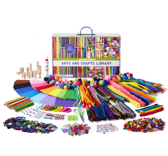 Image of Arts and Crafts Library components and packaging