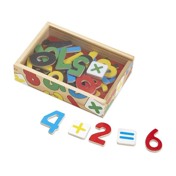 Image of Magnetic Wooden Numbers