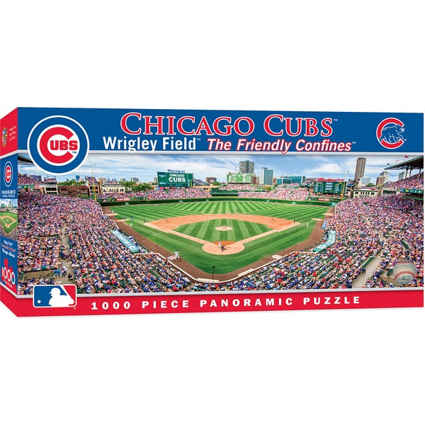 Image of Wrigley Field Panoramic Puzzle Packaging