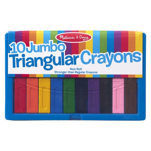 Image of 10 Jumbo Triangular Crayons in packaging