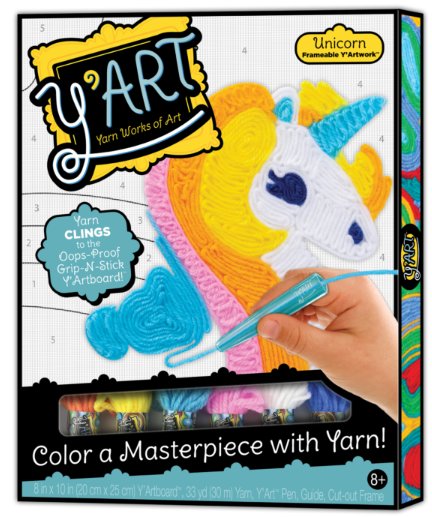 Image of Y'Art unicorn art and craft kit packaging