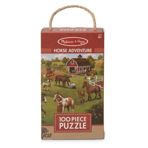 Image of 100 piece Horse Adventure puzzle from Melissa & Doug