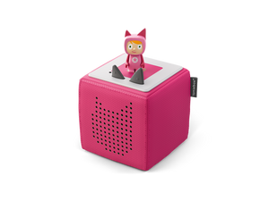 Image of pink Toniebox and Creative-Tonie figure