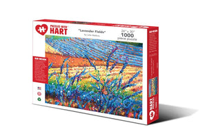 "Image of ""Lavender Fields"" 1000 piece puzzle packaging"