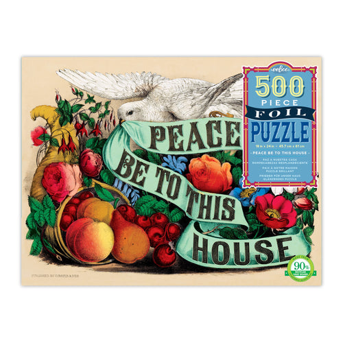Image of 500 PC Peace Be To This House Puzzle packaging