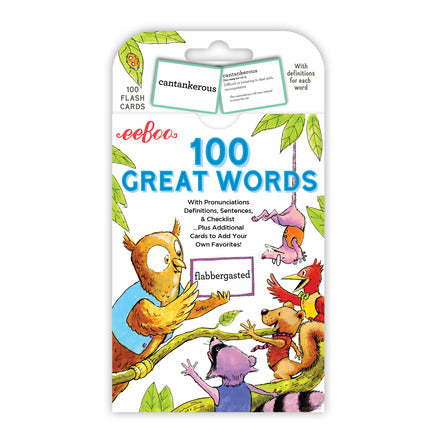100 Great Words flash cards by eeBoo