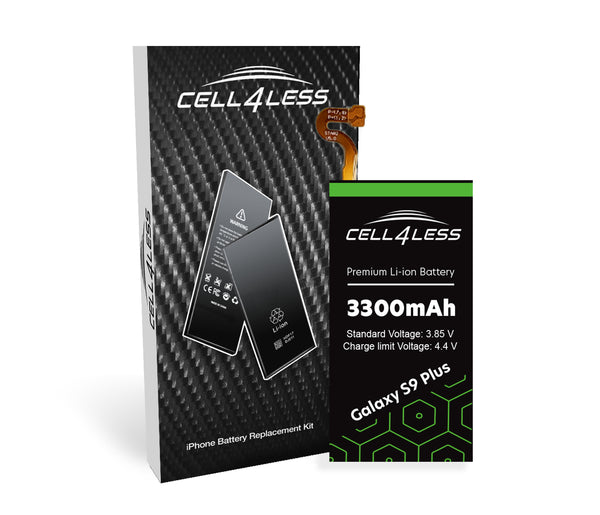 Samsung Galaxy S9 Plus Battery Replacement Kit Compatible- 3300 mAh (Samsung Galaxy S9 Plus) - CELL4LESS