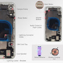 Small Parts iPhone XR Back Housing Assembly Metal MidFrame w/Back Glass - Sim Card Tray, Power / Volume Buttons, Camera Frame and Lens - CELL4LESS