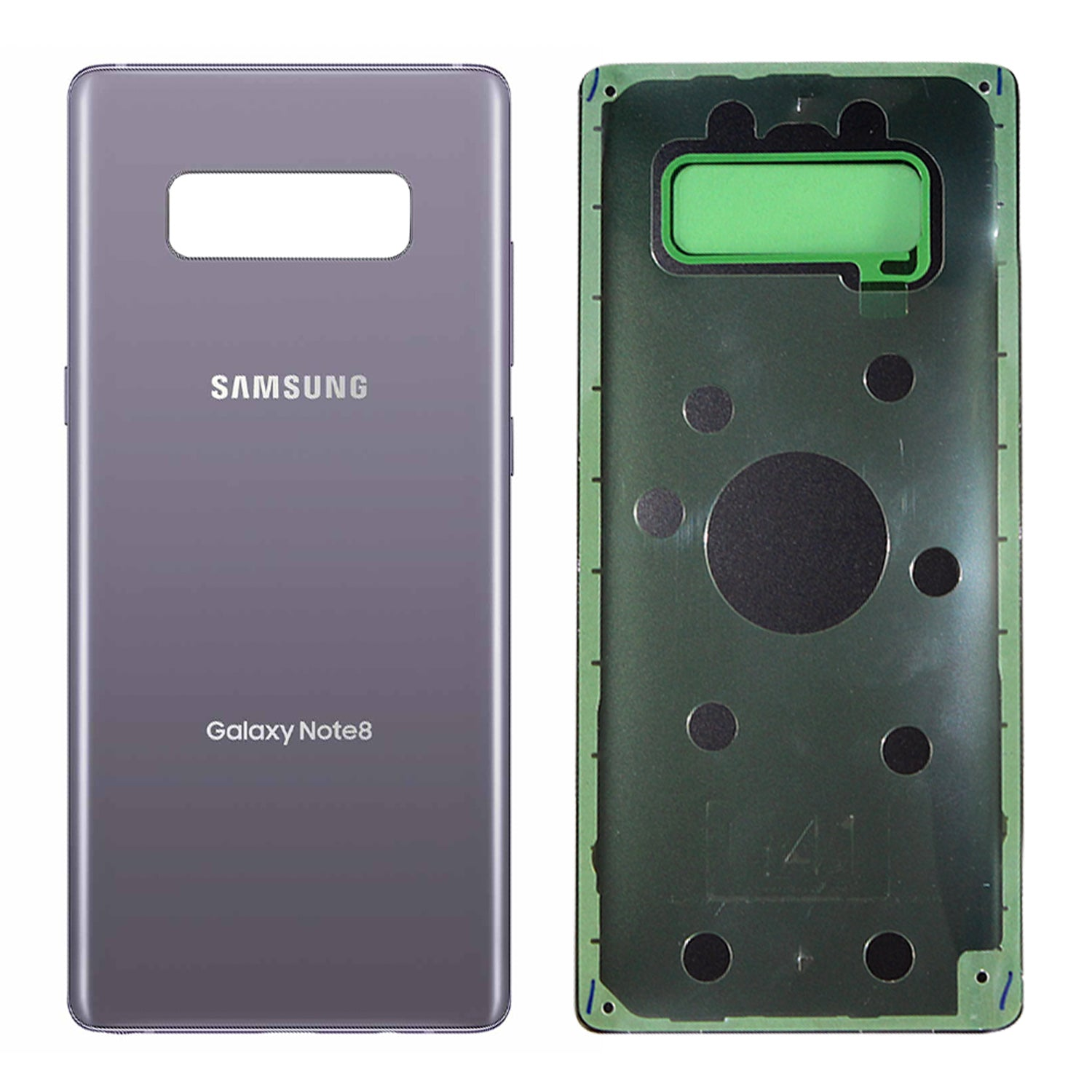 size 40 929a2 433bf Samsung Galaxy Note 8 Back Glass ORCHID GRAY OEM Replacement Battery Cover  N950