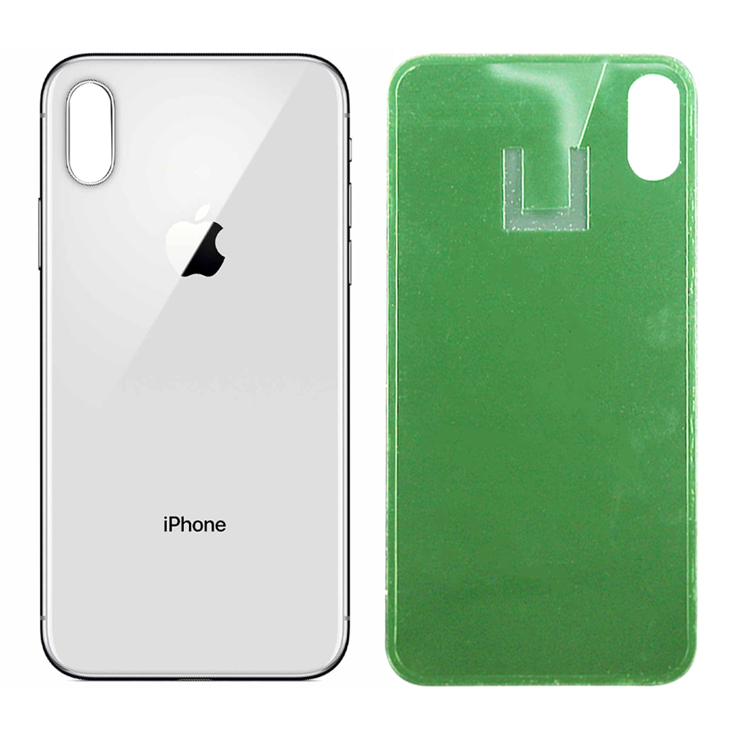 Silver Apple Iphone X Back Glass Cover Oem Battery Door Replacement