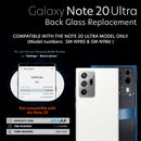Galaxy Note 20 5G ULTRA Back Glass Replacement Kit Including The Camera Lens, Removal Tool and Installed Adhesive - CELL4LESS
