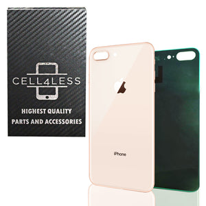Apple iPhone 8 Plus Back Glass Cover OEM Replacement Battery Door Cover w/ Adhes - CELL4LESS
