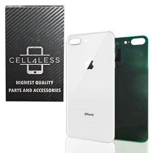 Apple iPhone 8 Plus Back Glass SILVER OEM Replacement Battery Door Cover w/ Adhe - CELL4LESS