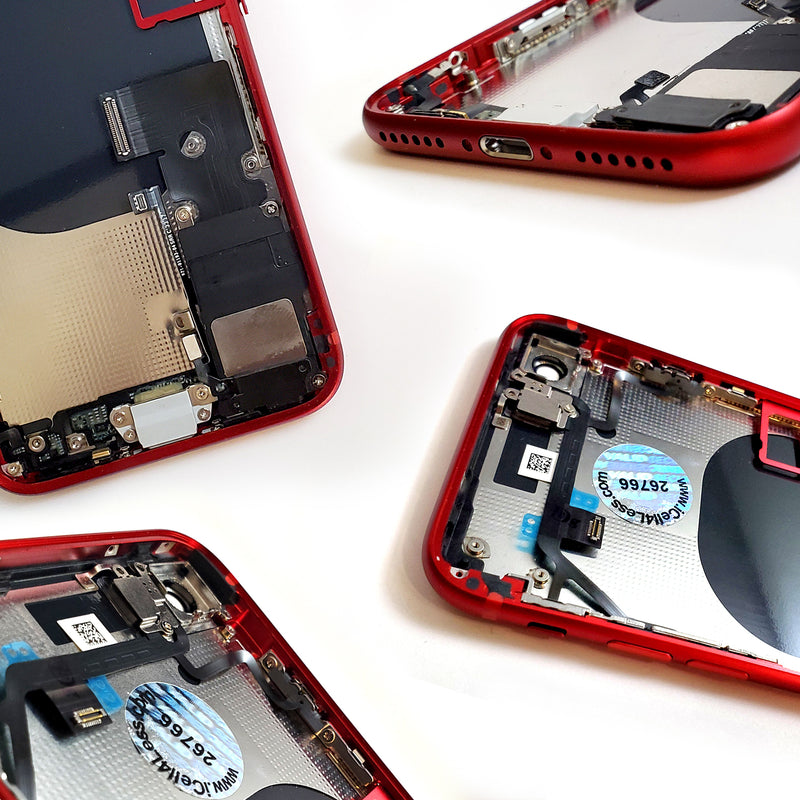 Apple iPhone 8 RED Rear Housing Midframe Assembly w/ Pre-Installed Components - CELL4LESS